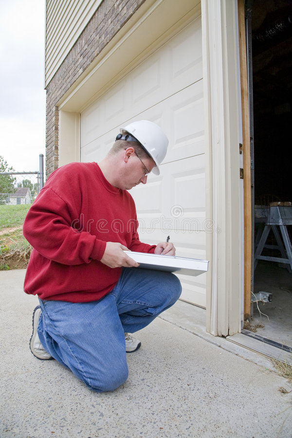Home inspector stock photo