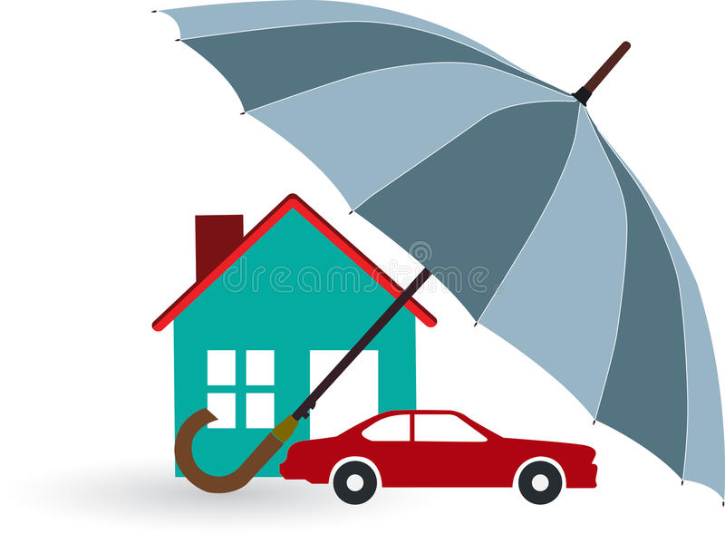 Home insurance royalty free illustration