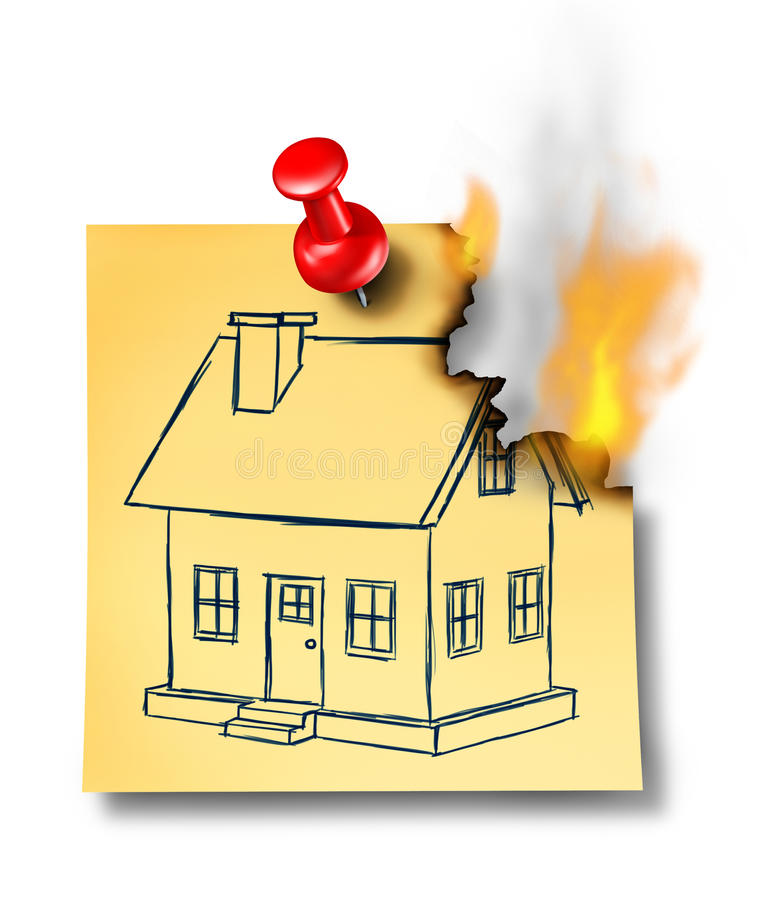 It is an image of Sizzling Burning House Drawing