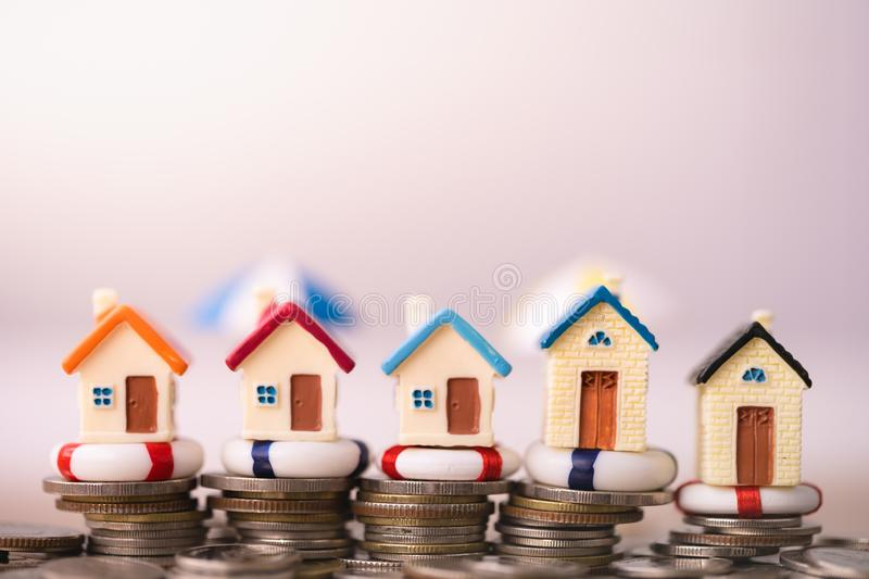 Home insurance concept. stock photography