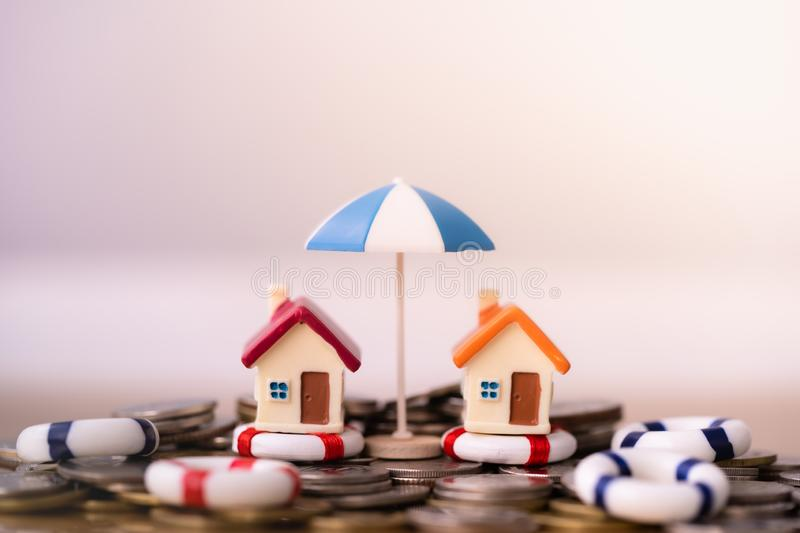 Home insurance concept. stock photos