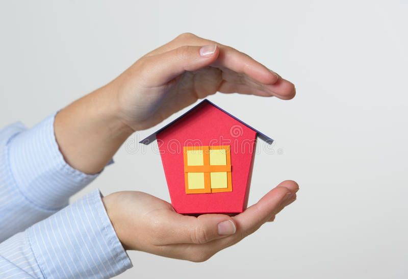 Download Home insurance concept stock photo. Image of hand, real - 83714272
