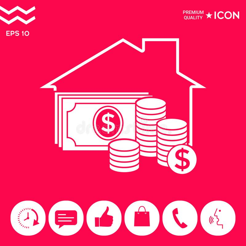 Home insurance icon stock vector. Illustration of house ...