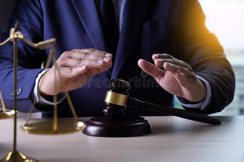 Home insurance, Law and justice concept stock photo