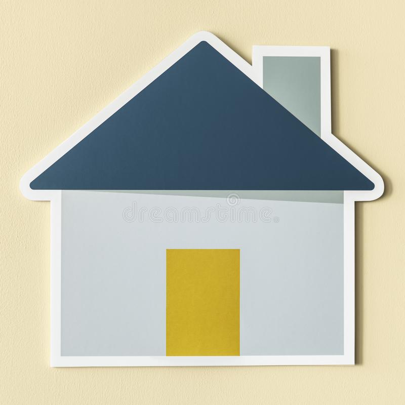 Home insurance safety cut out icon stock illustration