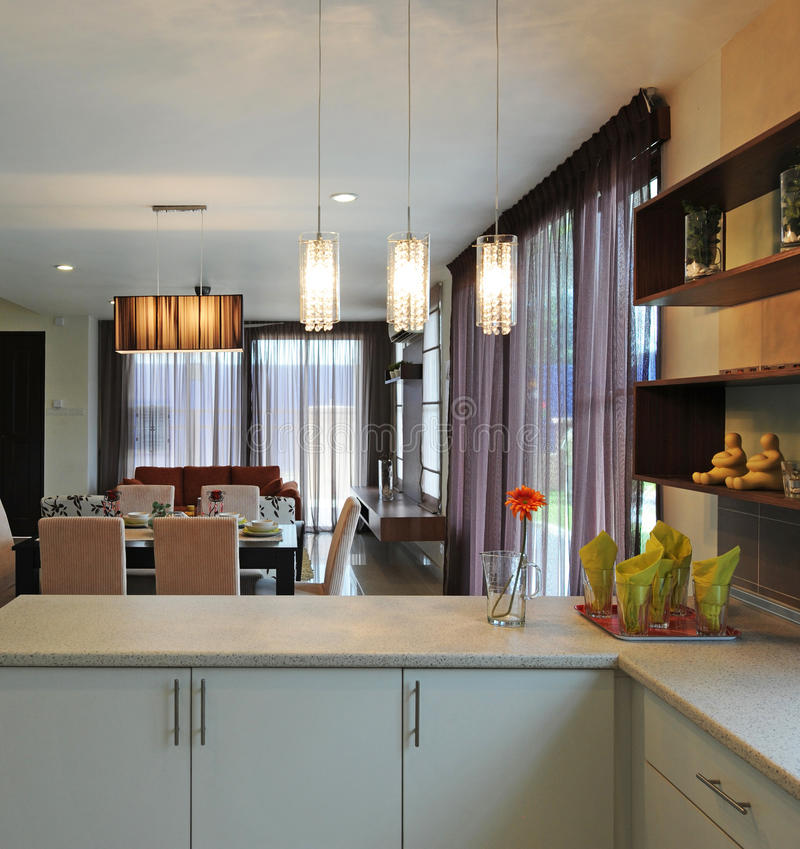 Home interior. A home interior ambient shot royalty free stock image