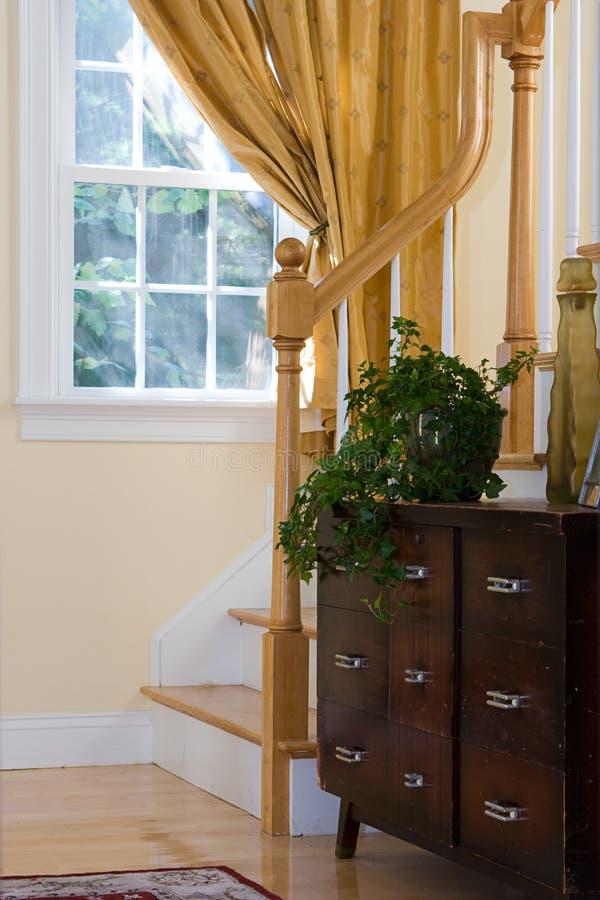 Home Interior With Antique Bureau