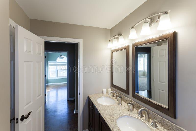 Home Interior Bathroom royalty free stock image