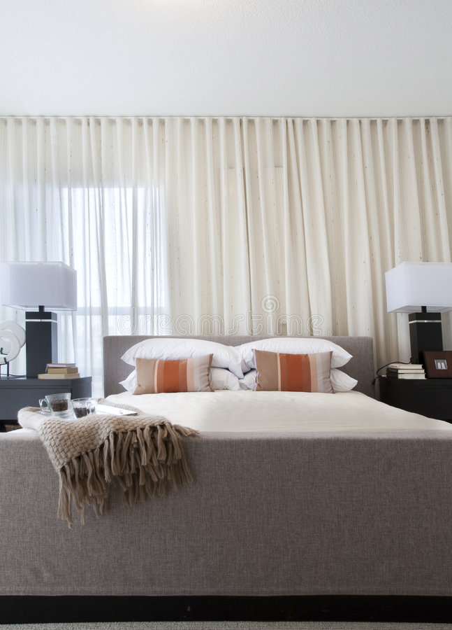 Home Interior: Bedroom stock image