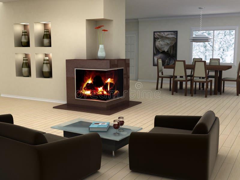 Download Home interior design stock illustration. Illustration of fire - 2559669