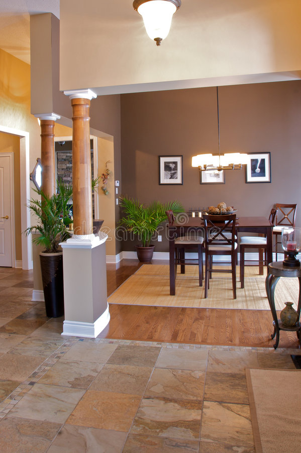 Download Home interior dining room stock photo. Image of pillars - 7993200