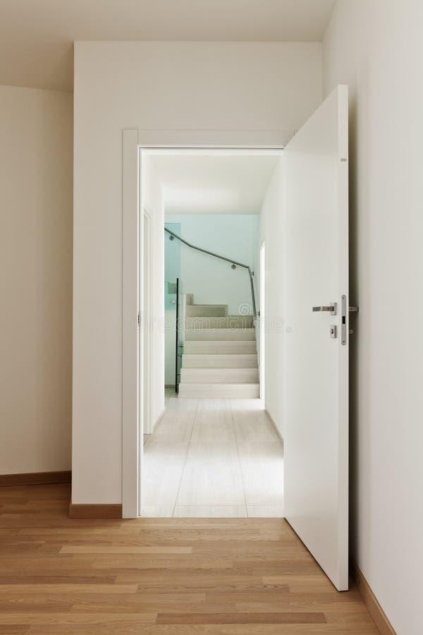HOME interior, porta imagem de stock