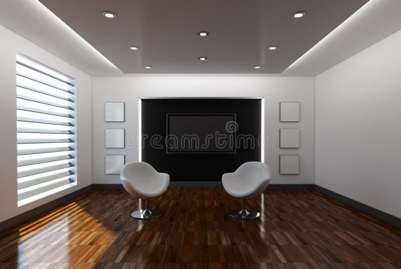 Download Home interior with sofa stock illustration. Illustration of black - 26335805