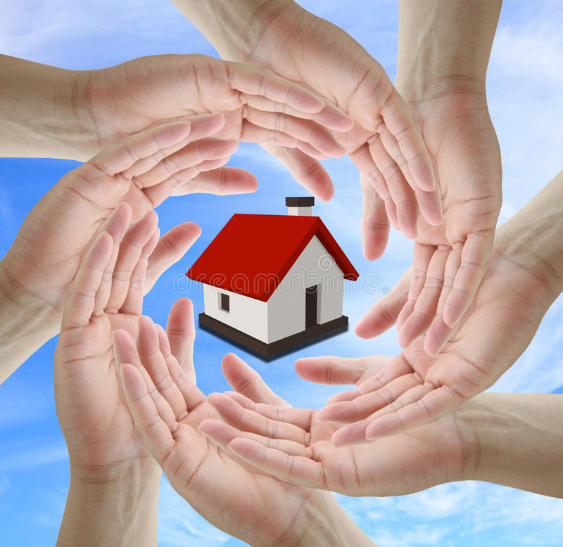 Home isurance concept stock photo