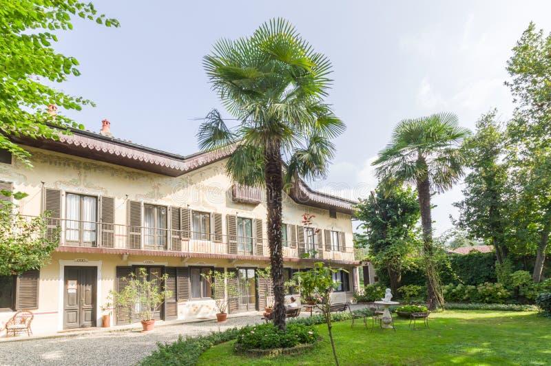 Home of the italian poet Guido Gozzano stock image
