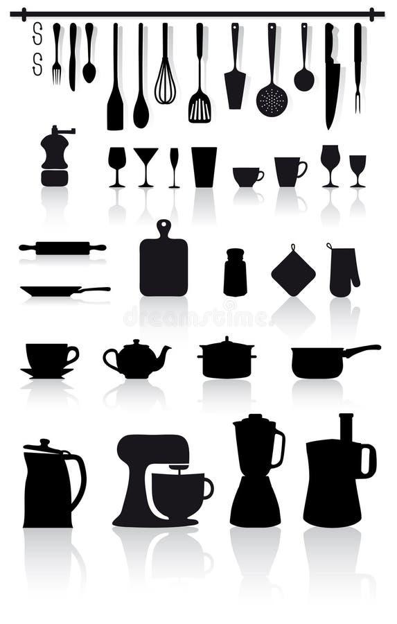 home kökutensils för bestick royaltyfri illustrationer