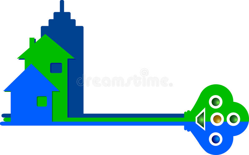 Home key. Llustration art of a home key with isolated background royalty free illustration