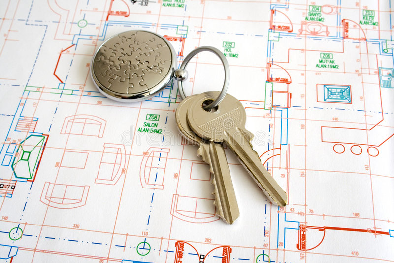 Home keys royalty free stock photography
