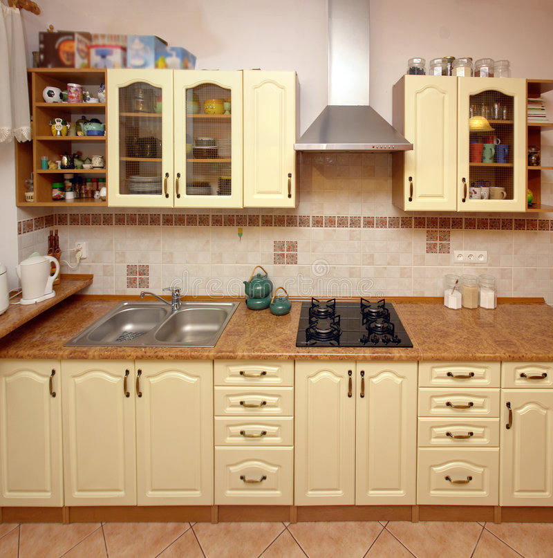 Download Home Kitchen Counter Royalty Free Stock Photography - Image: 3662807