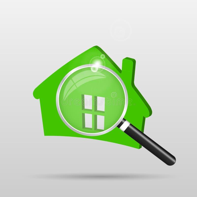 home kontroll stock illustrationer
