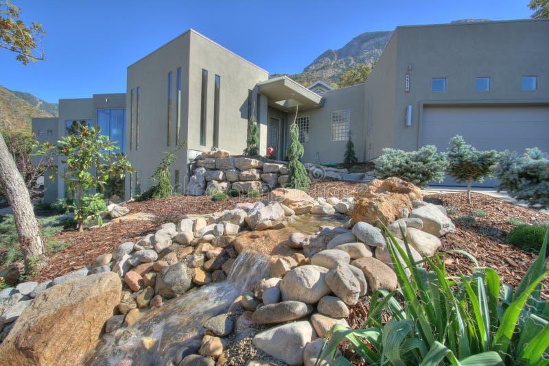 Home Landscape xeriscape stock image