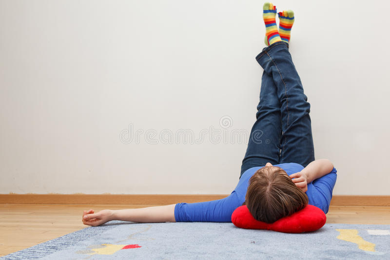 Home laziness stock image