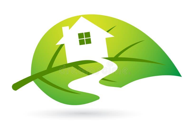 home leaf vektor illustrationer