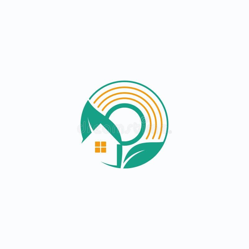 Home Leaf. Logo design original concept royalty free illustration
