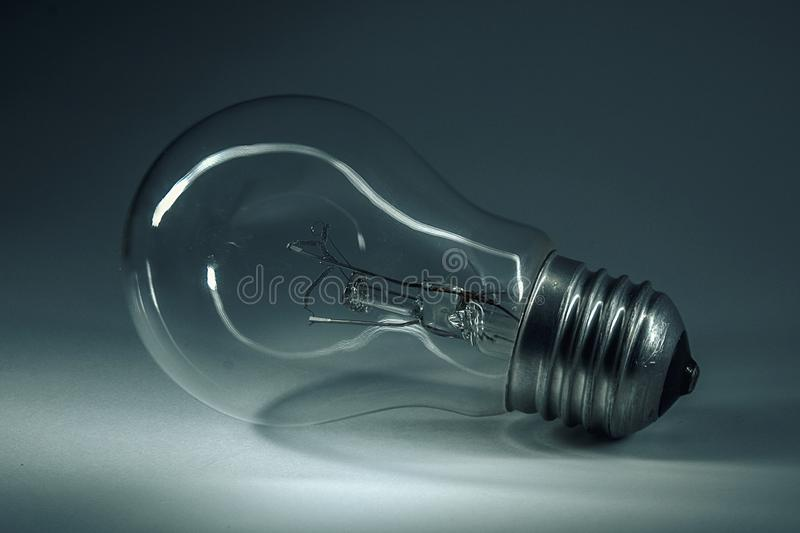 Home light bulb. In anticipation of the light. Great invention royalty free stock images