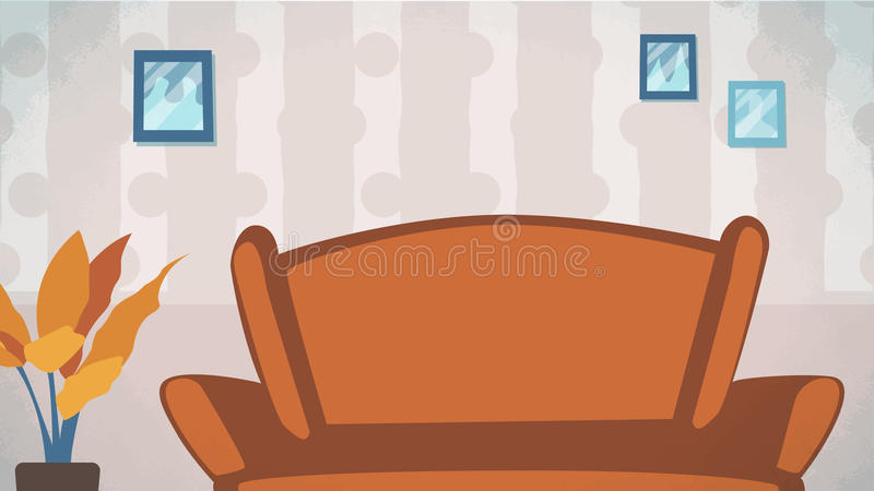 Download Home Livingroom Background Vector For Cartoon Animation Advertise Campaign Stock Illustration