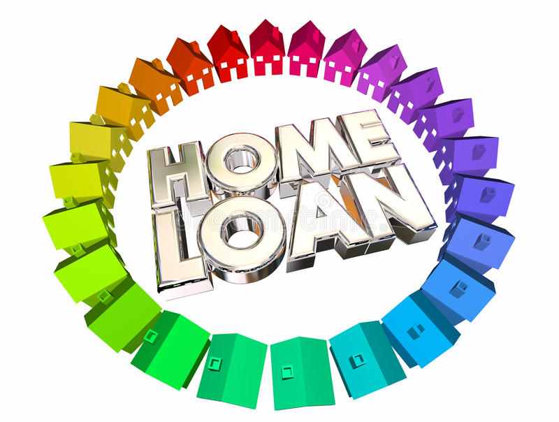 Home Loan Borrow Money Mortgage Buy House vector illustration