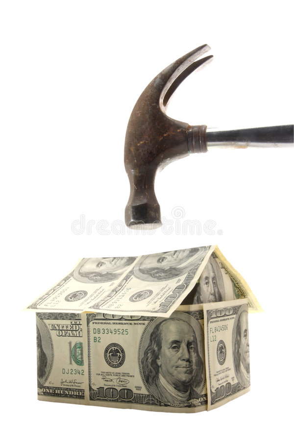Home loan crisis royalty free stock photography