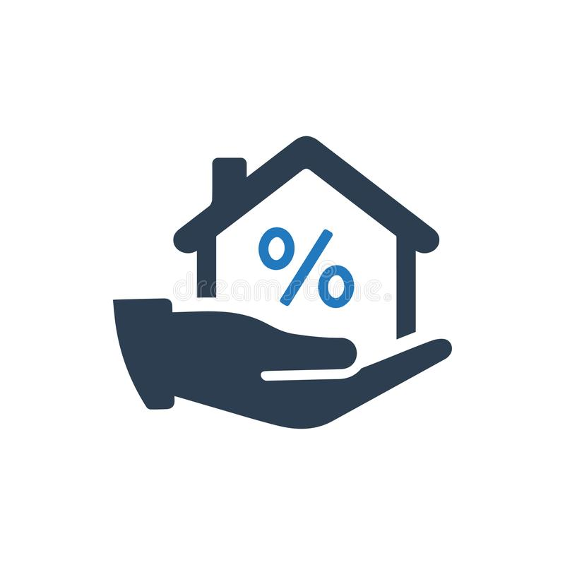 Home Loan Icon. Beautiful, Meticulously Designed Home Loan Icon royalty free illustration