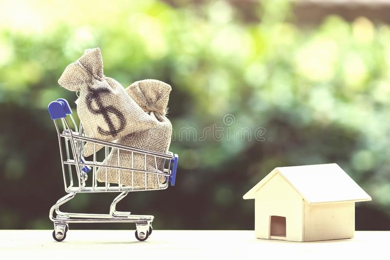 Home loan, mortgages, debt, savings money for home buying concept royalty free stock photography