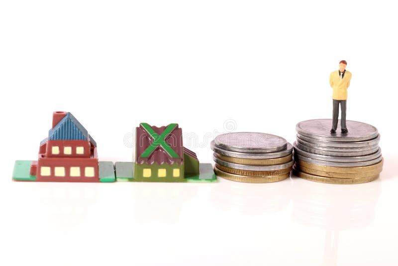 Home loan stress stock image