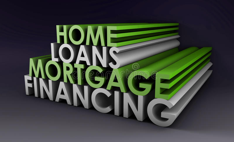 Home Loans. Mortgage Financing Concept in 3d