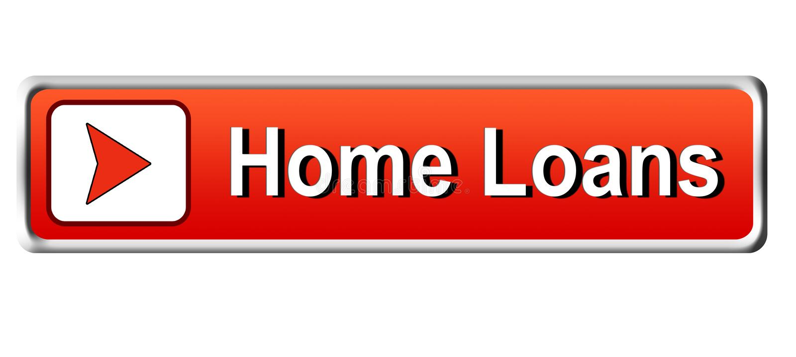 Home Loans square web button classic red button white background royalty free illustration