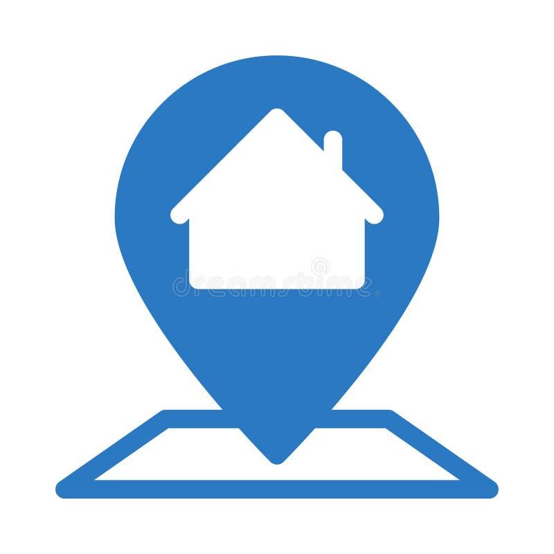 Home location glyph color flat vector icon vector illustration