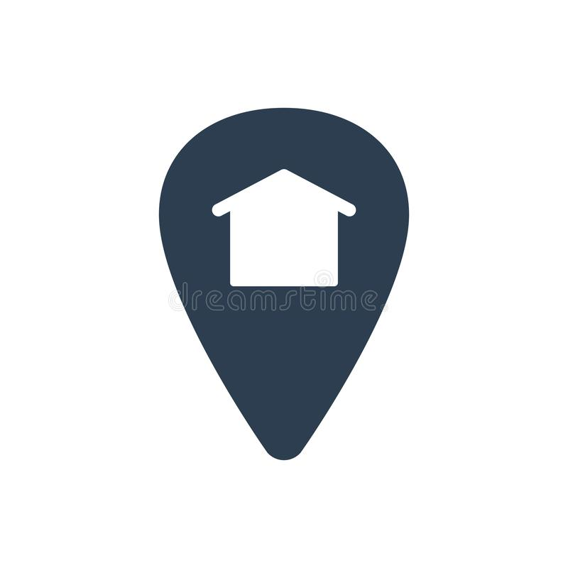 Home Location Icon royalty free illustration