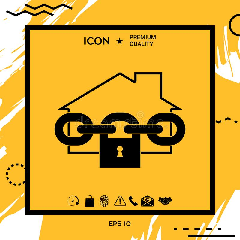 Home lock icon vector illustration
