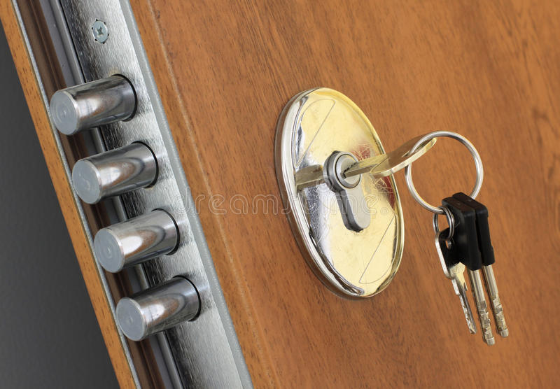 Home lock and keys royalty free stock photography