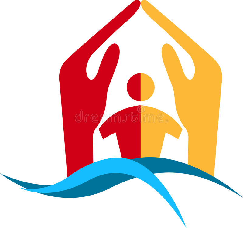 Home logo. Illustration art of a home logo with isolated background
