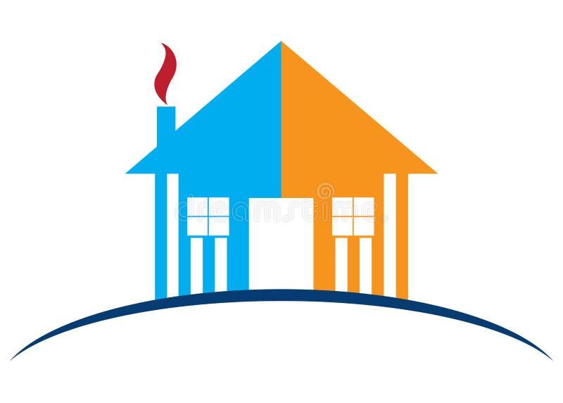 Home logo. Illustration of home logo design isolated on white background vector illustration