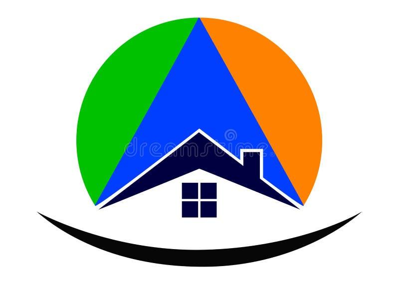 Home logo. Illustration of home logo design isolated on white background royalty free illustration