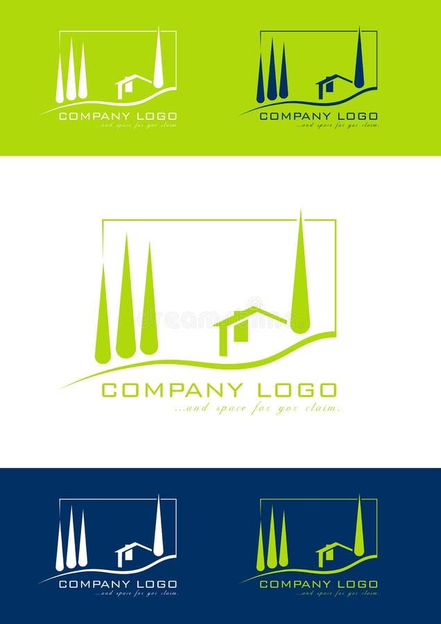 home logo för ferie stock illustrationer