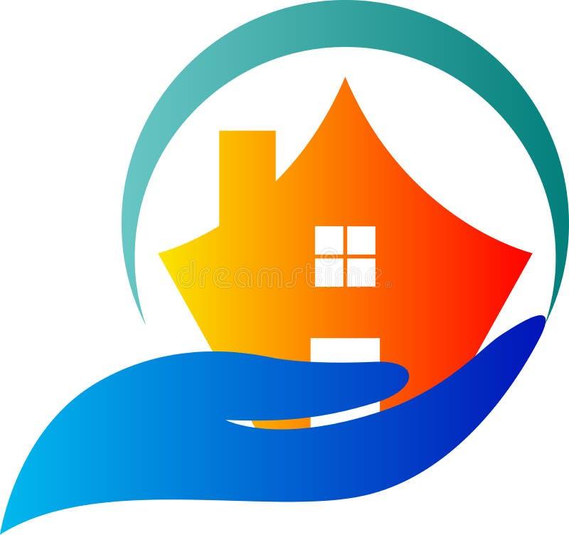 home logo för omsorg vektor illustrationer