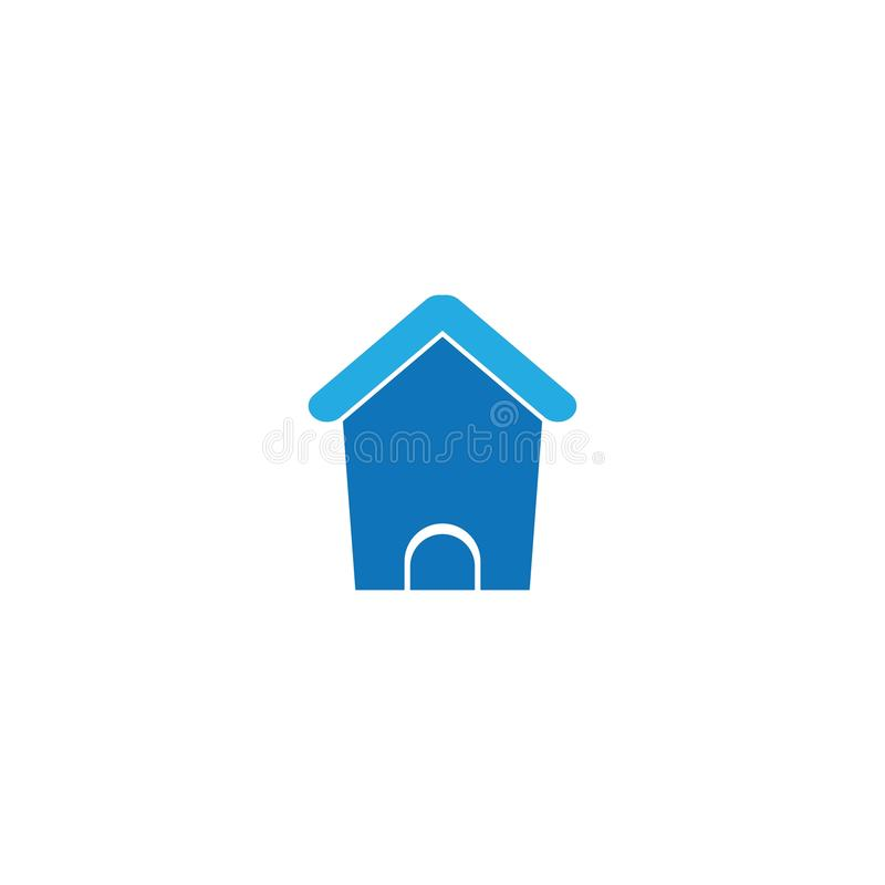 Home logo template. Icon design, shelter, loan, door, window, building, house, set, illustration, suburb, silhouette, various, isolated, urban, traditional royalty free illustration
