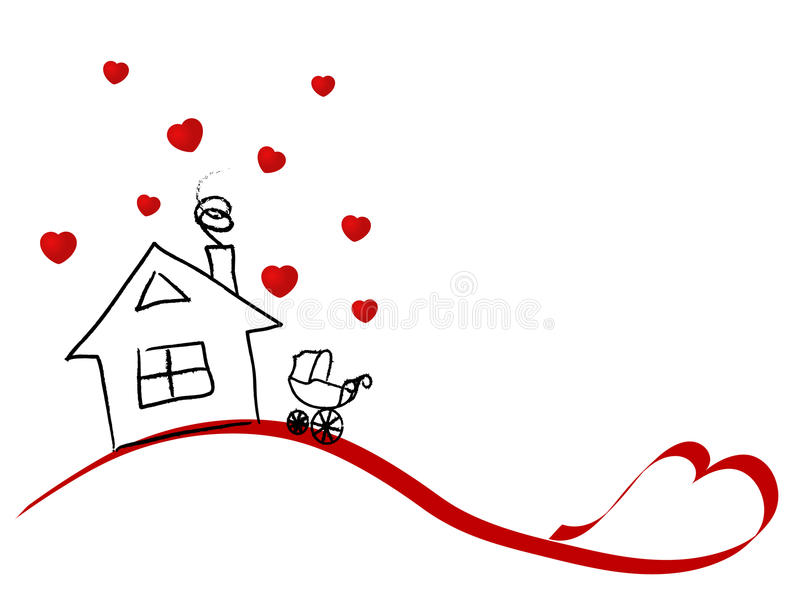 Home for lovers vector illustration