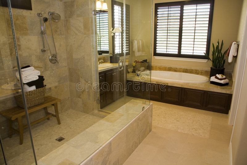 home lyx för badrum royaltyfria foton