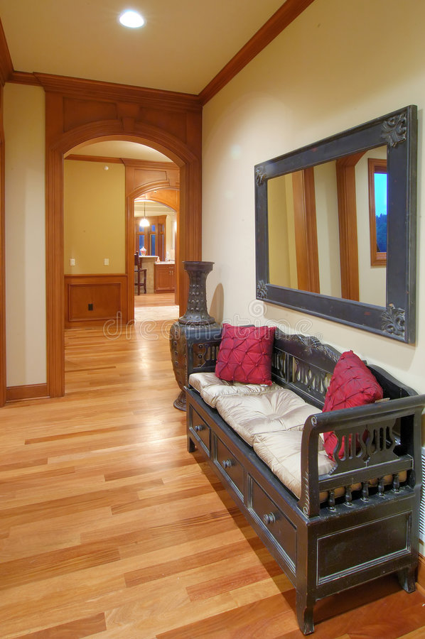 home lyxig walkway arkivfoton